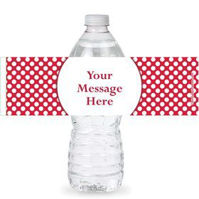Red Dots Personalized Bottle Labels (Sheet of 4)