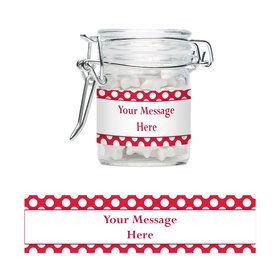 Red Dots Personalized Glass Apothecary Jars (10 Count)