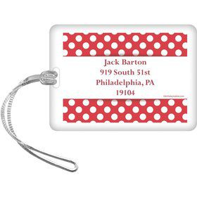 Red Dots Personalized Luggage Tag (Each)