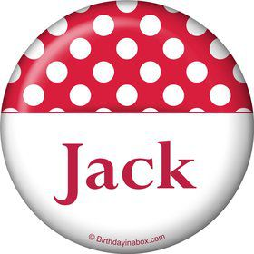 Red Dots Personalized Magnet (Each)