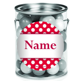 Red Dots Personalized Mini Paint Cans (12 Count)