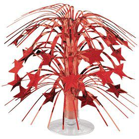 "Red Foil 8 1/2"" Cascade Centerpiece (Each)"
