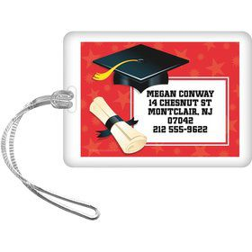 Red Grad Personalized Luggage Tag (Each)