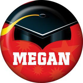 Red Grad Personalized Mini Magnet (Each)
