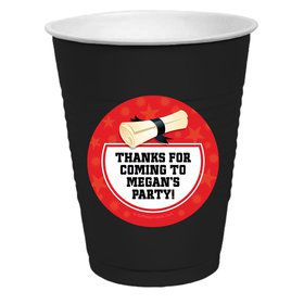 Red Grad Personalized Party Cups (50)