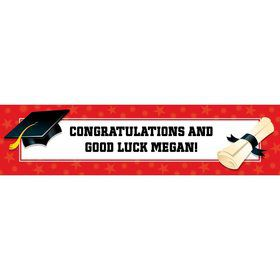 Red Graduation Personalized Banner (Each)