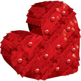 Red Heart Mini Pinata Decoration