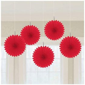 Red Mini Hanging Fan Decoration