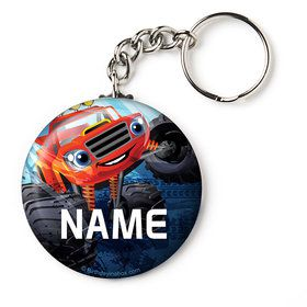 """Red Monster Truck Personalized 2.25"""" Key Chain (Each)"""