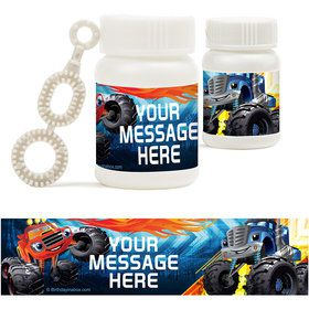 Red Monster Truck Personalized Bubbles (18 Pack)