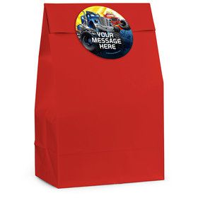 Red Monster Truck Personalized Favor Bag (12 Pack)