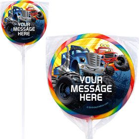 Red Monster Truck Personalized Lollipops (12 Pack)