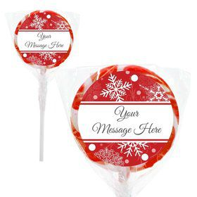 "Red Snowflake Personalized 2"" Lollipops (20 Pack)"