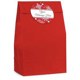 Red Snowflake Personalized Favor Bag (12 Pack)