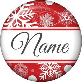 Red Snowflake Personalized Mini Magnet (Each)