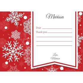 Red Snowflake Personalized Thank You (Each)