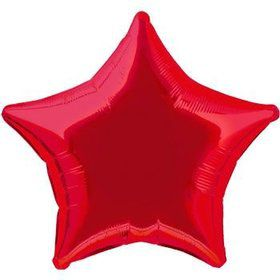 Red Star Mylar Balloon (each)