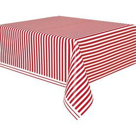 Red Stripe Table Cover (Each)