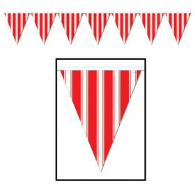 Red Striped Pennant Banner
