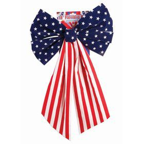 "Red, White & Blue 8"" Honeycomb Metallic Bow"