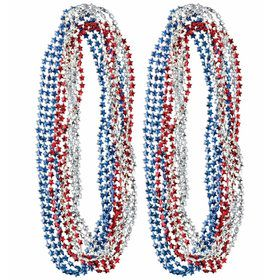 Red/White/Blue Bead Necklace