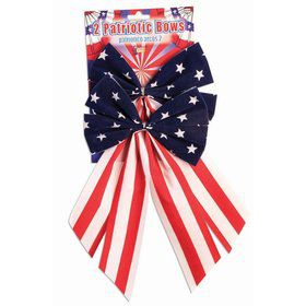 Red, White & Blue Patriotic Bows (2 Count)