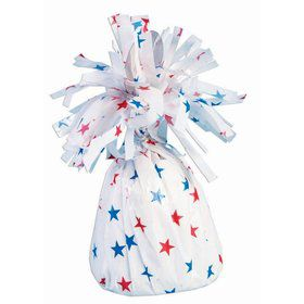 Red, White & Blue Star Small Balloon Weight