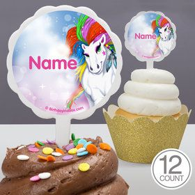 Regal Pony Personalized Cupcake Picks (12 Count)