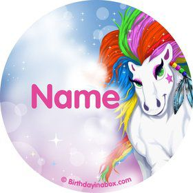Regal Pony Personalized Mini Stickers (Sheet of 24)