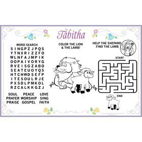 Religious Party Personalized Activity Mat (8 Pack)