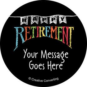 Retirement Personalized Mini Stickers (Sheet of 24)