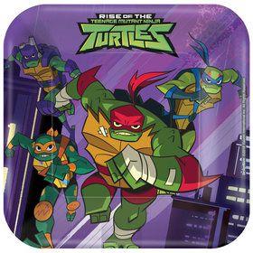 "Rise of the TMNT 7"" Plates (8)"