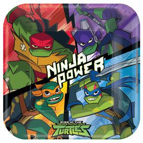 "Rise of the TMNT 9"" Plates (8)"