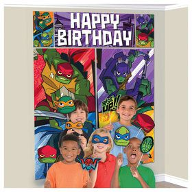 Rise of the TMNT Scene Setter Wall Decoration With Photo Props