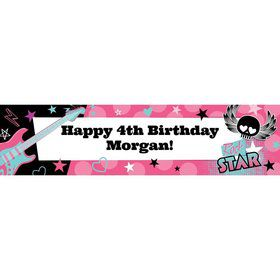 Rock Star Girl Personalized Banner (each)