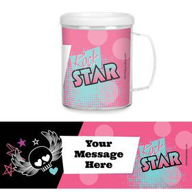 Rock Star Girl Personalized Favor Mugs (Each)