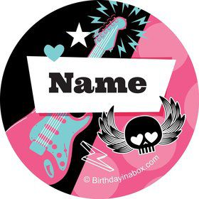 Rock Star Girl Personalized Mini Stickers (Sheet of 24)