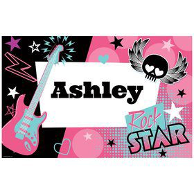 Rock Star Girl Personalized Placemat (each)