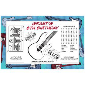 Rock Star Personalized Activity Mats (8-Pack)