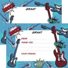 Rock Star Personalized Thank You Note (each)