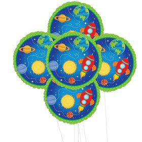 Rocket to Space 5pc Foil Balloon Kit