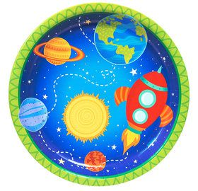 Rocket to Space 9 Dinner Plates (8)