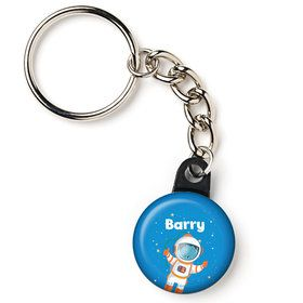 "Rocket to Space Personalized 1"" Mini Key Chain (Each)"