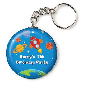 "Rocket to Space Personalized 2.25"" Key Chain (Each)"