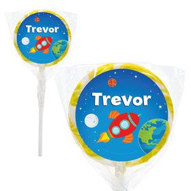 "Rocket to Space Personalized 2"" Lollipops (20 Pack)"