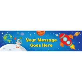 Rocket to Space Personalized Banner (Each)