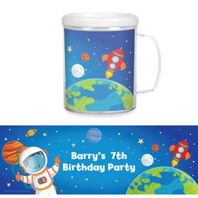 Rocket to Space Personalized Favor Mug (Each)