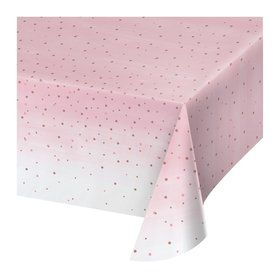 "Rose All Day Plastic Tablecover 54"" x 102"" (1)"