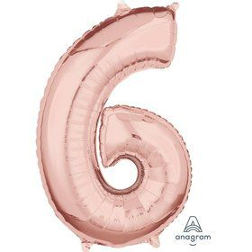 Rose Gold 26 Number Foil Balloon - 6