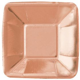 "Rose Gold 5"" Square Appetizer Plate (8)"